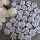 10/30/50 TINY WHITE & PINK GUIPURE LACE DAISY MOTIFS Sew On Flower Appliques