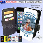 Designer Samsung iPhone Flip WALLET Card Cover FATHERS DAY Personalised GIFT