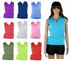 New Women Summer Holiday Polo T Shirt Vest Tank Top Lady size S,M,L,XL