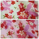 100% Poplin Cotton Fabric w/ Butterfly & Floral Print - Various Cols *Per Metre*