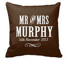 ❤ Personalised Cotton Cushion Ideal 2nd Wedding Anniversary Gift Mr&mrs Trad ❤