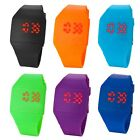 Fashion Mens Womens Touch Red LED Digital Display Silicone Sports Wrist Watch X