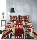 Retro Home London Quilt Cover Set
