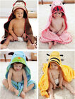 Kids Baby Animals Dressing Gown Wrap Hooded Bath Towel Bathrobes Size 90*90cm