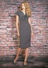 STOP STARING Bombshell PALOMA Grey Cheesecake 30's Deco Pencil Dress USA S-M NWT