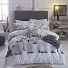 Catherine Lansfield Penguin Colony Duvet Set Single Double King