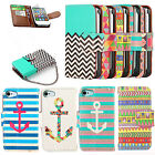Stylish Hybrid Wallet PU Leather Stand Case Flip Case Cover For iphone Samsung