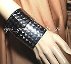 "1.75"" Wide GEOMETRIC EMBOSSED Metal Bangle ROMAN CUFF Bracelet SILVER GUNMETAL"