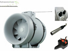"4"" 5"" 6"" 8"" 10"" 12"" HYDROPONIC GROW ROOM INLINE TEMPERATURE & SPEED CONTROL FAN"