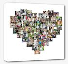 Heart collage canvas print picture - personalised -  Framed ready to hang