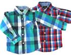 Baby Boy Shirts Checked Red Blue UK Sale