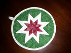Potholders Hotpads Amish Made Round Potholders Lone Star Pattern