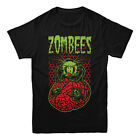 Nerdy By Nature ZOM-BEES T-shirt zombie 100% Cotton Tee Men's Choose Size