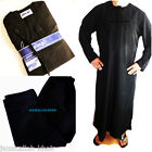Black - jubbah - Omani -Thobe-Jubba  size 30-52  With Pants/trousers