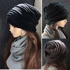 hot!Unisex Winter Plicate Baggy Beanie Knit Crochet Ski Hat oversized slouch Cap