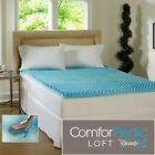 "NEW! COOL 3"" TEXTURED ULTIMATE COMFORT MEMORY FOAM GEL BED MATTRESS TOPPER NEW!!"