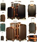 4 Wheels Super Lightweight Hard Shell Trolley Cases Suitcase Luggage HardCases