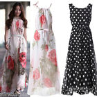 Ladies Evening Summer/Cocktail/Party Print Floral Long Boho Maxi Dress Size 6-20