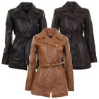 Ladies Infinity Mid Length Fitted Waxed Soft Real Leather Jacket In 3 Colours