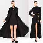 Women's Fashion Full-Length Wool Noble Jacket TRENCH Slim Fit Long Parka Coat