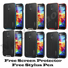 Shock Proof Hybrid Slim Armor Hard Case Cover For Samsung Galaxy S5 S4 Screen Gu