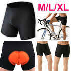 Unisex Men Women Bike Bicycle Cycling Short Underwear Pants Gel 3D Padded Black