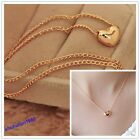 2 Colors Womens Plated Heart Bib Statement Chain Jewelry Pendant Necklace Treedy