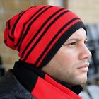 KNITTED REVERSIBLE TEAM SUPPORTERS BEANIE HAT 9 Cols FOOTBALL RUGBY SPORT UNISEX