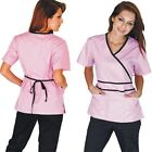 Kyпить Medical Nursing Women Scrubs NATURAL UNIFORMS Contrast Mock Sets Size XS - 3XL на еВаy.соm