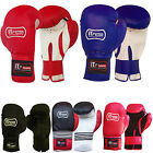 10 OZ Rex Leather Boxing Gloves PunchBag Mitts Training Grappling Gloves