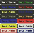 RECTANGULAR CUSTOM EMBROIDERED NAME TAG Sew on patch Quality Badge