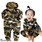 "NWT Vaenait Baby 6-24M Infant Hooded One-pieces Romper Jumpsuit""Hoodie Camo"""