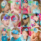 Baby Girls Frozen Anna Elsa Princess Hairband Soft Elastic Headband Hair Band