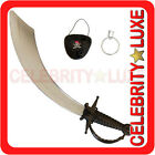 New Sword Halloween Fancy Dress Up Costume Party Adult Kids Mens Turkish Curved
