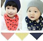 Child Kid Girls Boys Baby Stars Double-deck Triangle Scarf Wrap Cotton CCAP5007