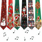Novelty MUSICAL Christmas Tie - Plays Jingle Bells - 6 Designs