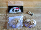Bull Rider Cowboy Concho, Silver/Gold for Saddle, Belt Leather Crafts Screw-back
