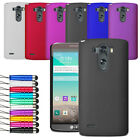 Ultra Slim Hard Case Plastic Cover For LG G3 D855 Free Stylus & Film Protector