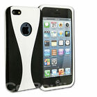 Slim Fit Dual Shock Soft Feel Hard Case For The iPhone 5 Free Screen Protector