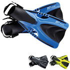 IST Professional SHORT Length TRAVEL Snorkelling Fins / Flippers - ADJUSTABLE
