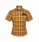 Womens Original Brutus Trimfit Dr Martens Button Down Shirt Tartan Check DM5W