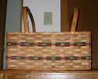 Basket Amish Made Reed Chore Basket with 2 - Swinging Handles