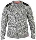 NEW BIG SIZE BLACK GREY KNITTED JUMPER SWEATER ELBOW PATCHES 2XL XXL