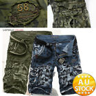 Men's Fashion Cargo Pants Casual Trousers Military Combat Army CAMO Shorts