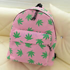 Women Maple Leaf Handbag Canvas Backpacks Girl's School Book Satchel Light Bags