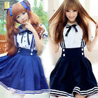 Robe Cosplay Costume Fancy Dress Lolita School Students Anime Halloween Party