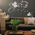 Flower Vines Hearts Vinyl Wall Stickers, Wall Decals, Wall Art Graphics