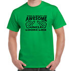 Mens Funny Sayings Slogans Novelty T Shirts-Awesome Uncle Looks Like tshirt