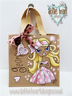 Personalised Jute Bag Hand Painted Dottie Heart XL