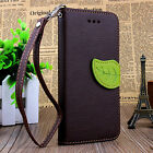 Luxury Leather Card Flip Wallet Case Stand Cover Pouch & Strap For iPhone 6 / 5S